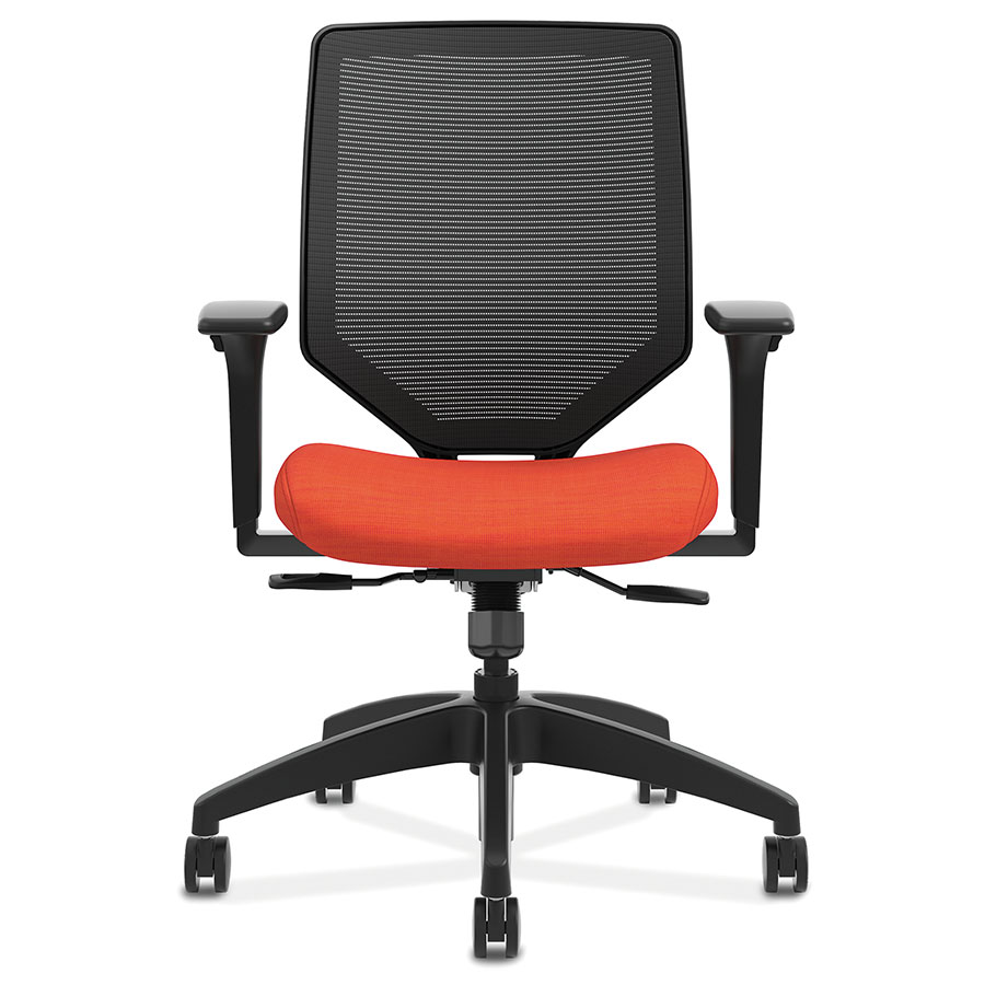 ... Saturn Modern Orange Mesh Back Office Chair   Front View ...