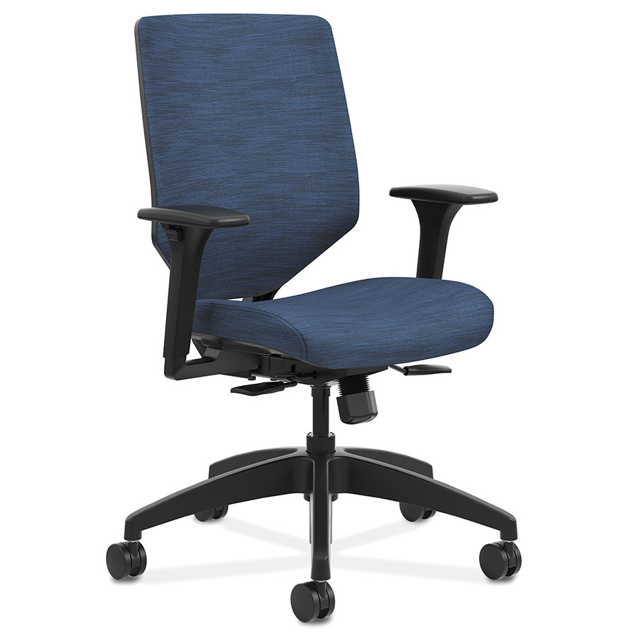 Saturn modern office chair in blue eurway furniture for Blue office chair