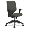 Saturn Modern Upholstered Office Chair in Gray