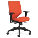 Saturn Modern Upholstered Office Chair in Orange