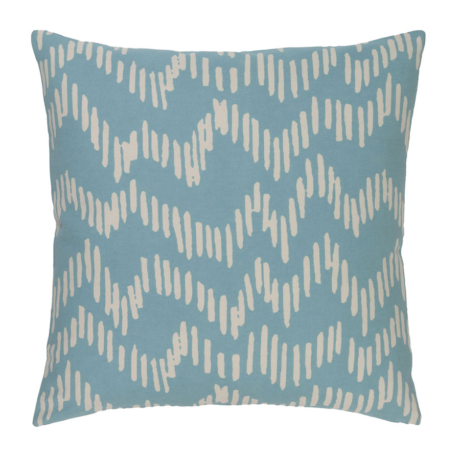 "Saul 18"" Aqua Modern Pillow"