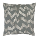 "Saul 18"" Gray Modern Pillow"