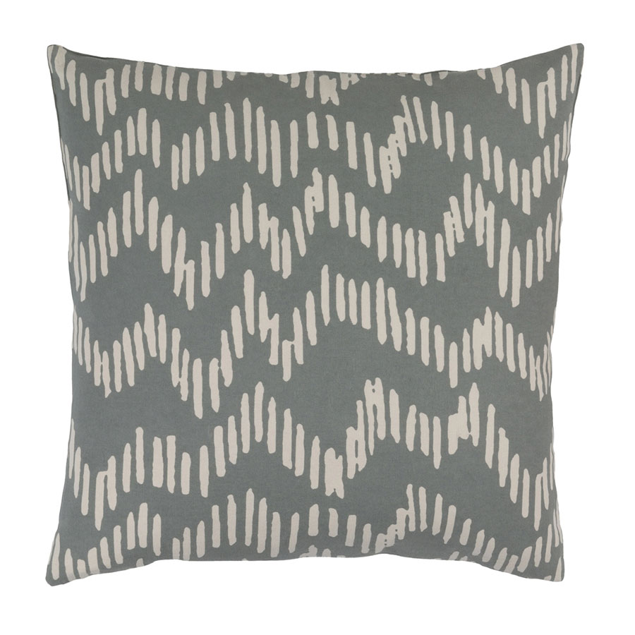 "Saul 22"" Gray Modern Pillow"