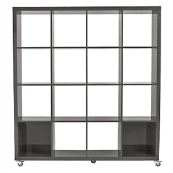 Saul 4X4 Modern Gray Shelving Unit by Euro Style
