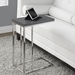 Savannah Contemporary Glossy Gray Accent Table