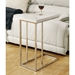 Savannah Contemporary Glossy White Accent Table