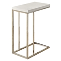 Savannah Modern Glossy White Accent Table