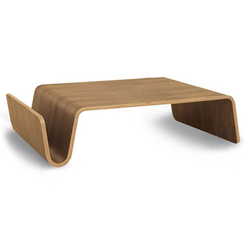 Scando Modern Walnut Coffee Table + Magazine Rack by Offi & Company