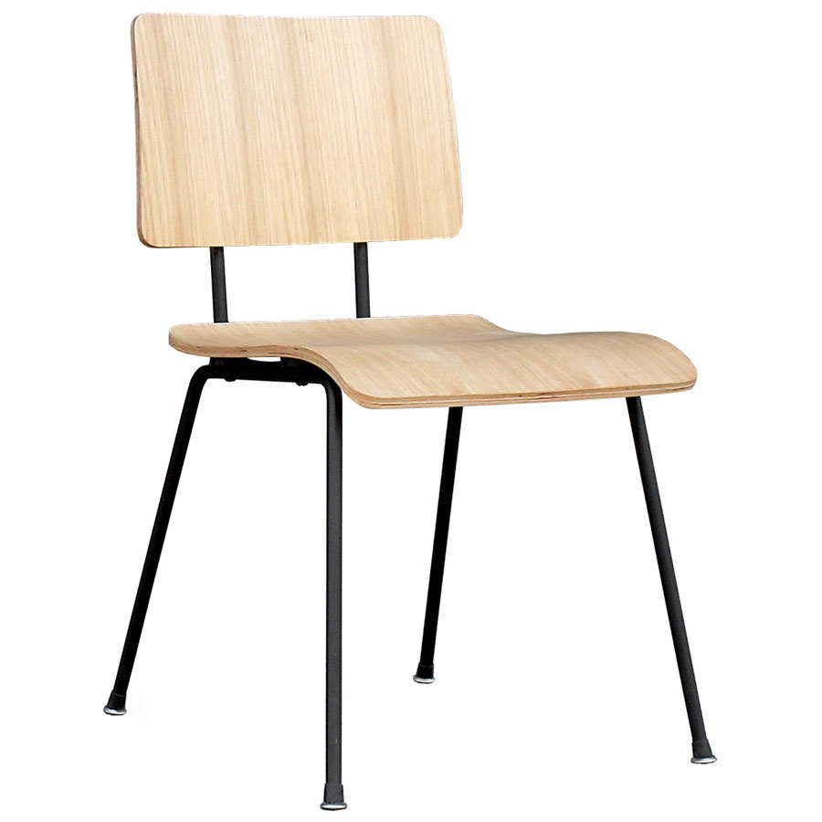 School Contemporary Dining Chair by Gus Modern in Natural Oak