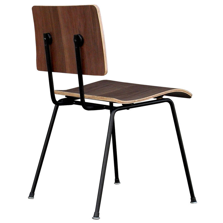 School Contemporary Dining Chair by Gus Modern in Walnut