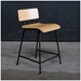 Modern School Counter Stool in Natural Walnut