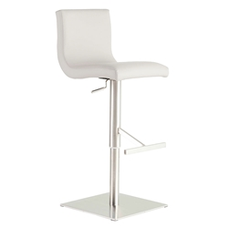 Scott Modern White Adjustable Stool by Euro Style