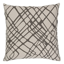 "Scotty 22"" Brown Modern Pillow"