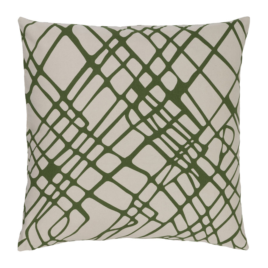 "Scotty 22"" Green Modern Pillow"