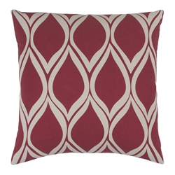 "Scout 18"" Red Modern Pillow"