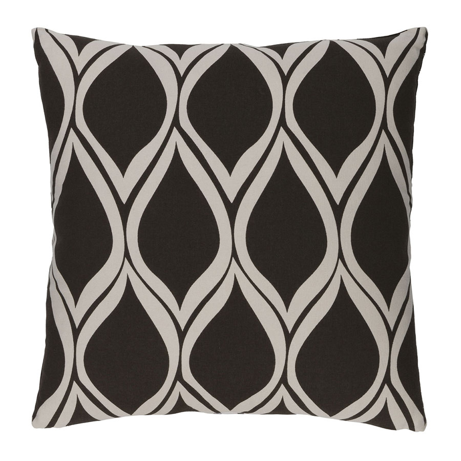 "Scout 20"" Black Modern Pillow"
