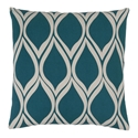 "Scout 22"" Teal Modern Pillow"