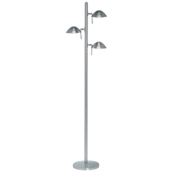 Seija Polished Steel Modern Floor Lamp