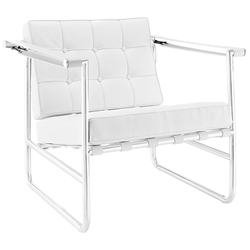 Seine Modern White Lounge Chair