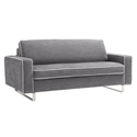 Sellula Modern Sleeper Sofa in Light Grey by Pezzan