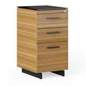 Sequel 20 Modern Tall 3-Drawer File Cabinet by BDI in Natural Walnut + Black