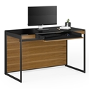 Sequel 20 Modern Compact Desk by BDI in Natural Walnut + Black