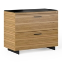 Sequel 20 Modern Lateral File by BDI in Natural Walnut + Black
