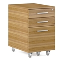 Sequel 20 Modern Mobile File Cabinet by BDI in Natural Walnut + Satin Nickel