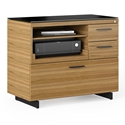 Sequel 20 Modern Multifunction Cabinet by BDI in Natural Walnut + Black