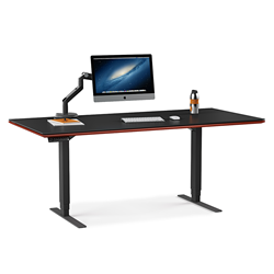 BDI Sequel Cherry Executive Contemporary Lift Desk