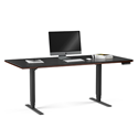 BDI Sequel Contemporary Executive Lift Desk in Chocolate Stained Walnut