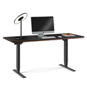 BDI Sequel Lift Contemporary Sit + Stand Desk in Chocolate