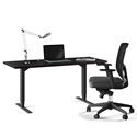 BDI Sequel Lift Contemporary Sit + Stand Desk in Espresso