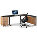 BDI Sequel Lift Contemporary Sit + Stand Desk in Natural Walnut