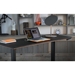 BDI Sequel Lift Modern Sit + Stand Desk in Walnut + Micro Etched Black Glass