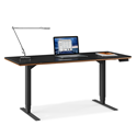 BDI Sequel Lift Modern Sit + Stand Desk in Walnut