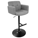 Sergio Modern Adjustable Stool in Gray and Black