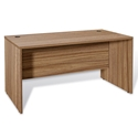 "Series 100 63"" Walnut Melamine Modern Desk"