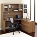 Series 100 Walnut Laminate Modern Desk Hutch