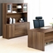 Series 100 Walnut Laminate Contemporary Desk Hutch