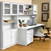 100 Series White Bookcase with Optional Doors