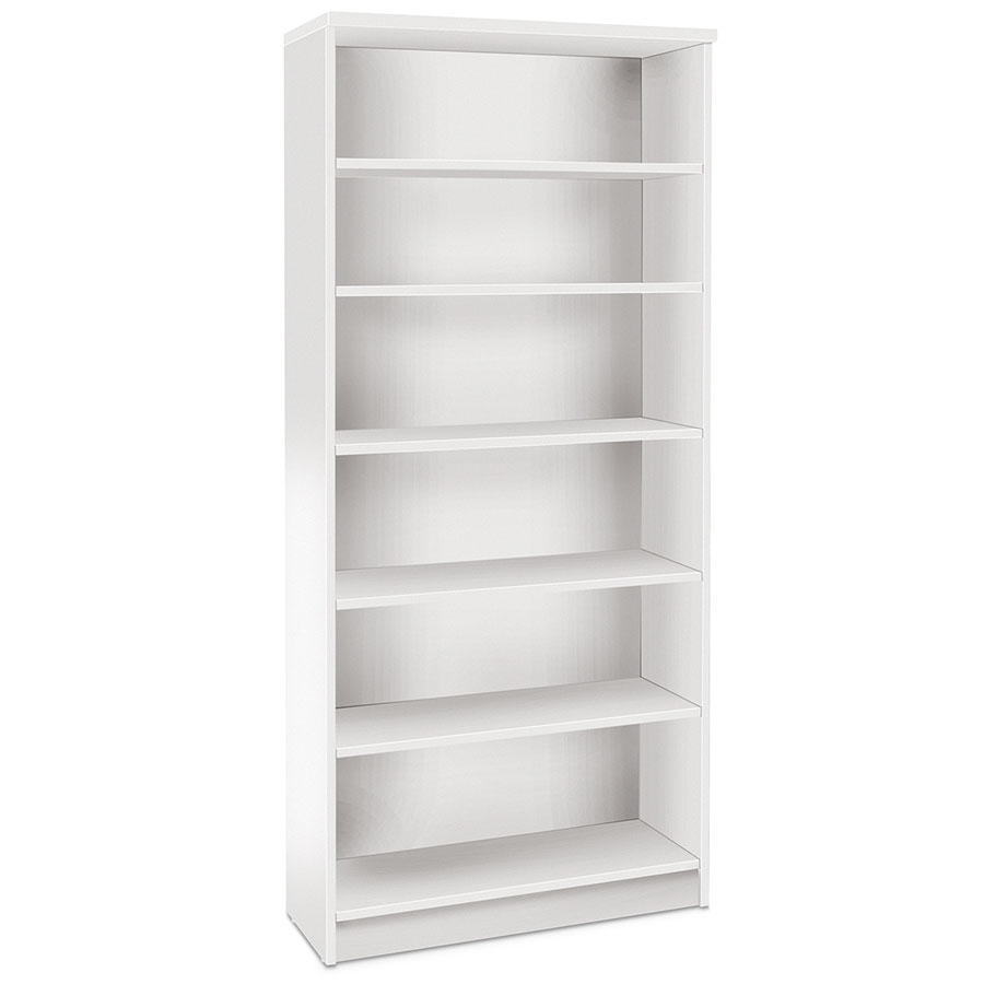 Series 100 Modern White Bookcase