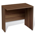 Series 100 Walnut Melamine Modern Desk Return