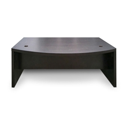 Series 100 Espresso Melamine Modern Executive Desk