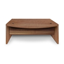 Series 100 Walnut Melamine Modern Executive Desk