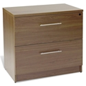 Sirius Walnut Open Grain Melamine Laminate Modern Lateral File Cabinet