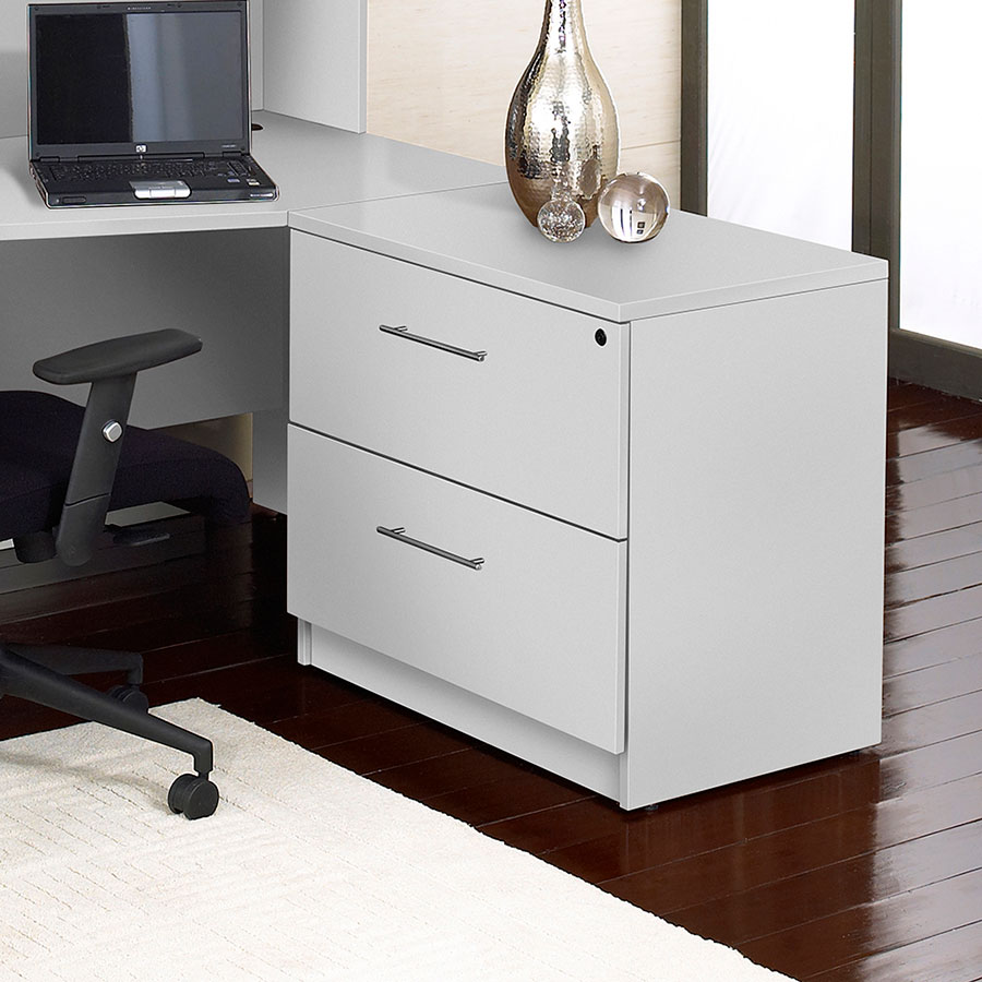 Modern Lateral File Cabinets series 100 modern white lateral file | eurway modern