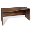 Series 100 Walnut Melamine Modern Left Desk