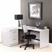 Series 100 Left White Modern Desk