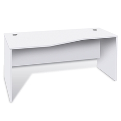 Series 100 Modern Left Hand White Desk